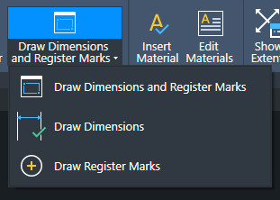 Draw Dimensions and Register Marks